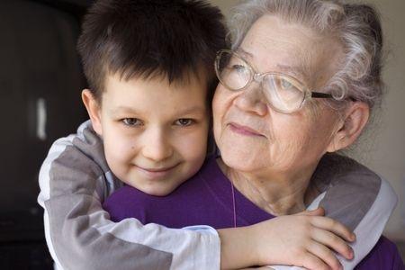 אני והסבתא בתל אפק